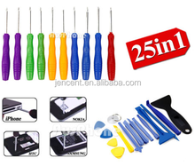 2018 hot sale 25in1 25 in 1 mobile repairing Opening Tool Screwdriver kit Set for Apple Iphone Ipad NDS PSP Samsung