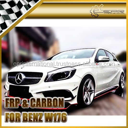 For Mercedes Benz W176 Revo RZA290 Style Carbon Fiber Front Lip (AMG Only)