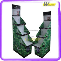 customized pet food promotion cardboard ladder display rack for pet shop