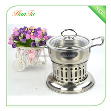 Outdoor Cooking Windproof Stainless Steel liquid Alcohol Stove Heater with Pot