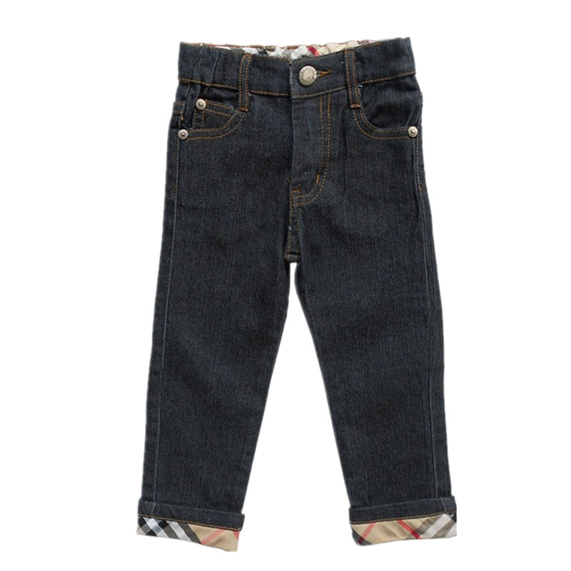 Fashion boys jeans high quality kids clothes brand baby boy clothing plaid design children clothing spring summer denim pants
