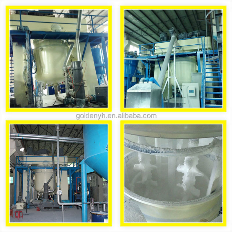 High efficiency silicone rubber power mixer