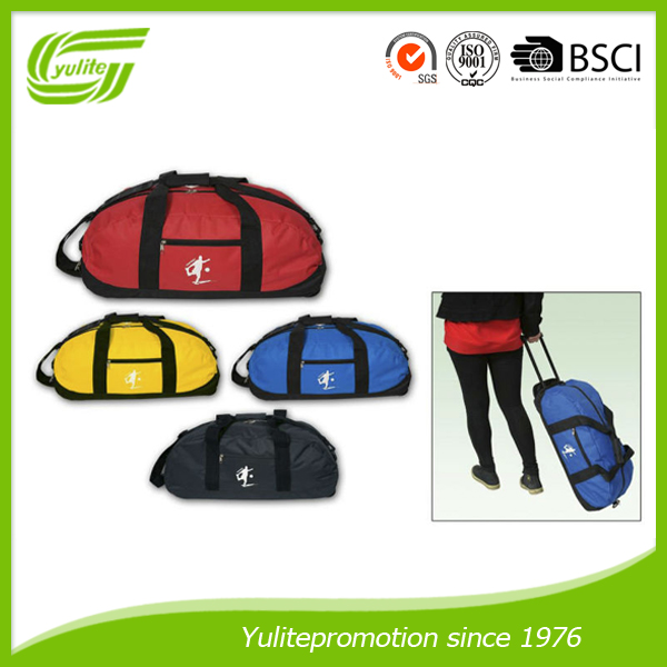 Promotion trolley travel luggage duffel bags