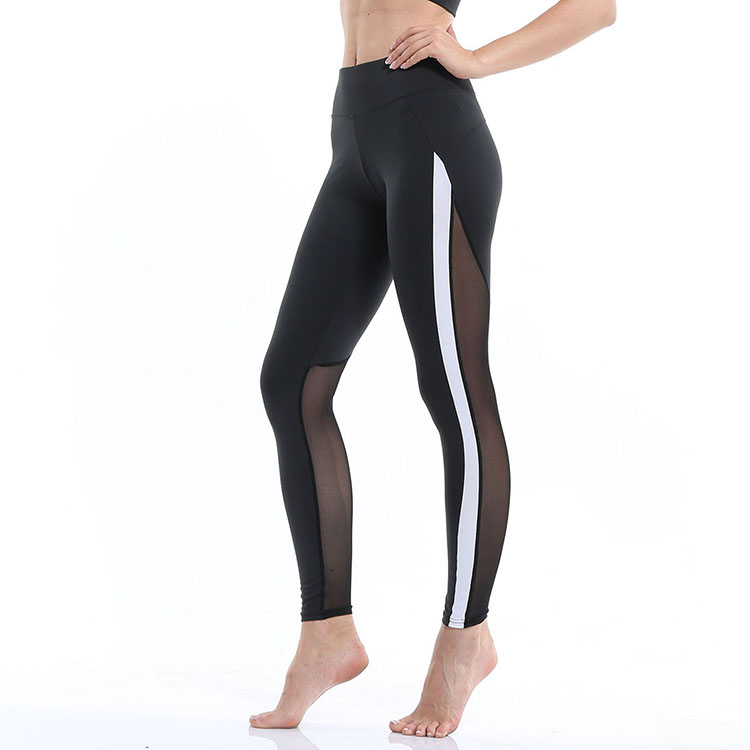 Sexy gym fitness nude girl sexy yoga fitness compression pants mesh workout leggings for women