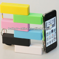 Factory Price Good Quality Real 2200mAh Key Chain Power Bank Mini Type