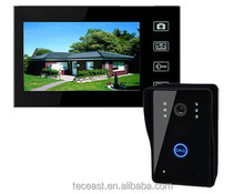 Apartment intercom peephole camera 7inch color wireless video door bell