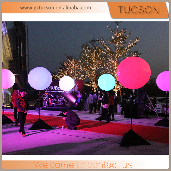Advertising inflatable led light ball/ led balloon for sale