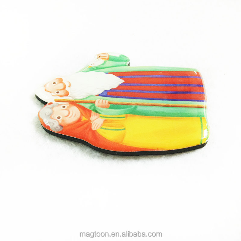 custom cartoon epoxy fridge magnet toy for souvenir&decor