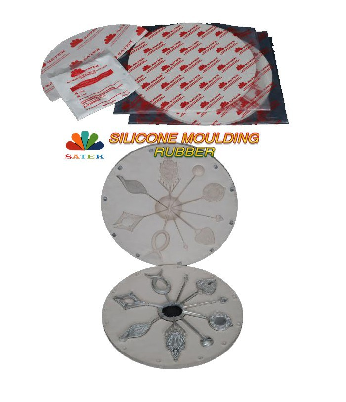 Satek White Silicone Casting Molding Rubber