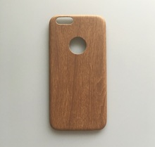 Best selling accessories PU leather wood phone case for iphone 6