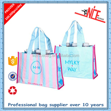 2015 promotional recyclable tote laminated pp woven shopping bag