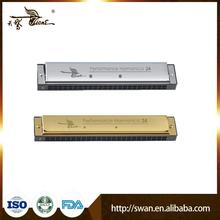 Hot sale 24hole golden laser-printing special-tune harmonica