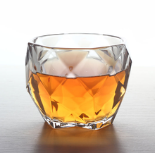 330ml diamond shape round whisky glass cup,vodka glass cup