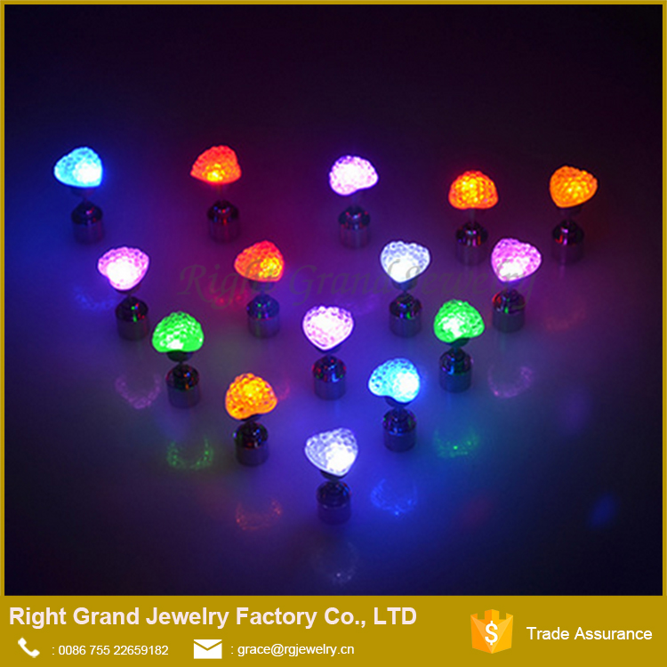 Light Up LED Bling Earrings Ear Studs Dance Party Accessories Blinking