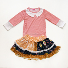 Wholesale kids girl two pieces clothing sets childrens boutique clothes high quality little girls spring ruffle outfits