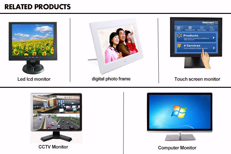 HD 1080P Flat Screen 24 Inch Touch Screen Monitor 10 Points Capacitive Touch