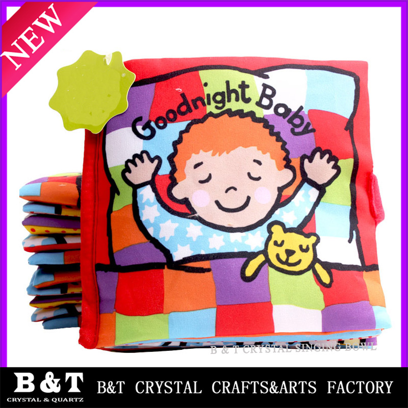 Wholesale educational soft toy baby cloth book