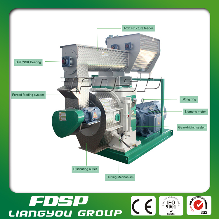 Ring die types of biomass pellet mill made to bamboo chips pellets