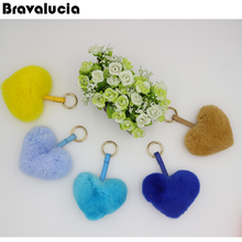 Bravalucia sweet heart keychain for girls hot selling multi colored keychain