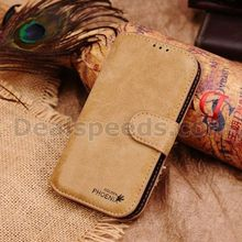 Dark Yellow Golden Phoenix Wallet Pu Leather Cases for Samsung Galaxy S4 i9500