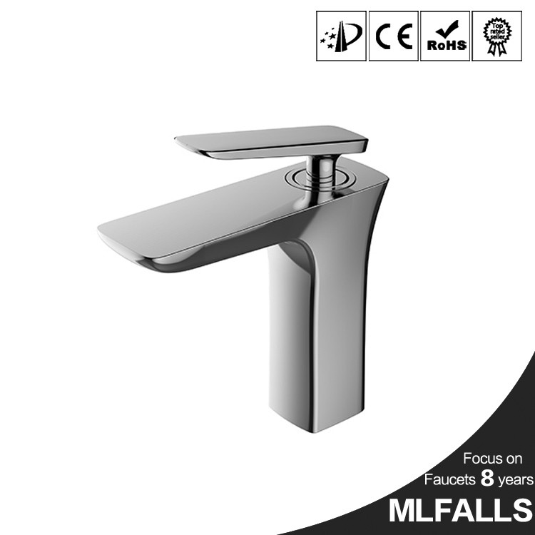 Modern chrome finished wash basin faucet deck mount sink water tap guangdong import wholesale