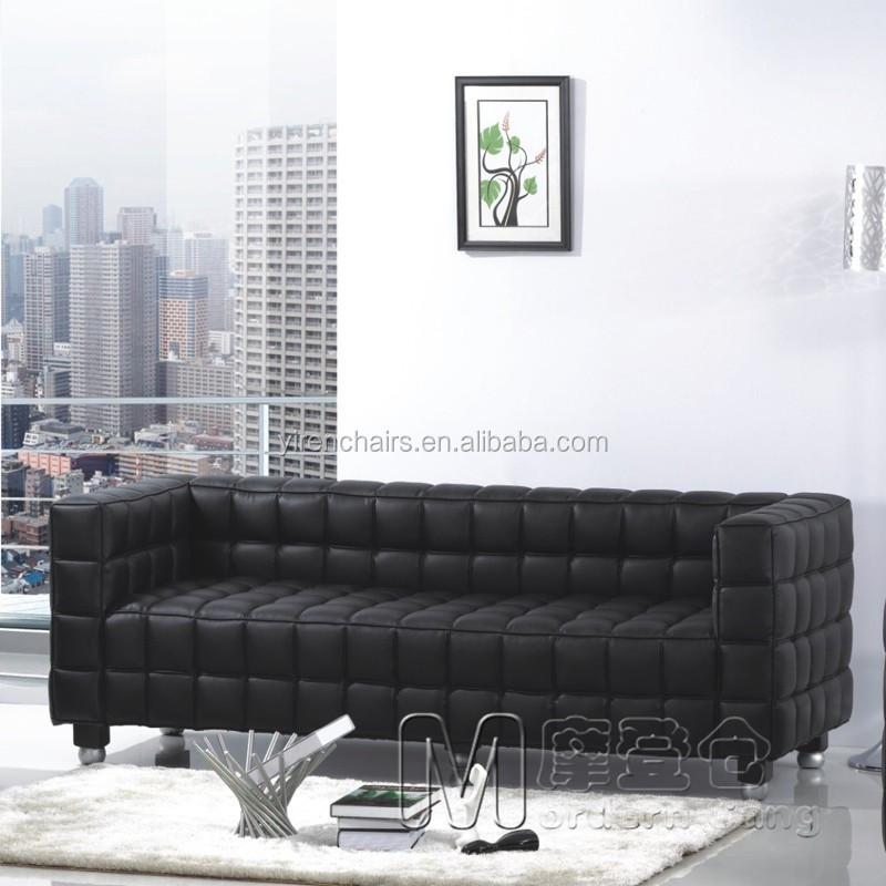 3 seat Kubus Sofa pu quality/modern sofa set design/furniture sofa