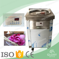 Glory Manufacture Instant Stir Fried Ice Yogurt Roller with Fish Shape Waffle Machine / 50CM Single Pan Snow Ice Machine