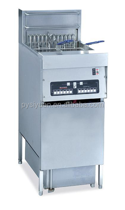 high quality 30L industrial floor stand Deep Fryer with filter block from china supplier