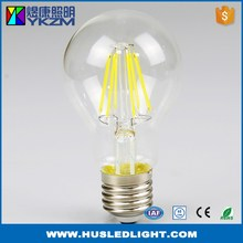 New coming hot sale a60 e27 6w dimmable led filament bulb