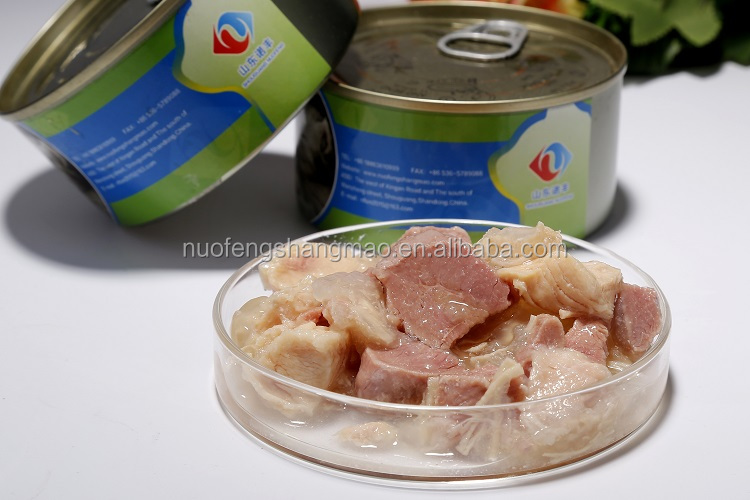 High quality dog wet food chicken and beef meat dice canned food