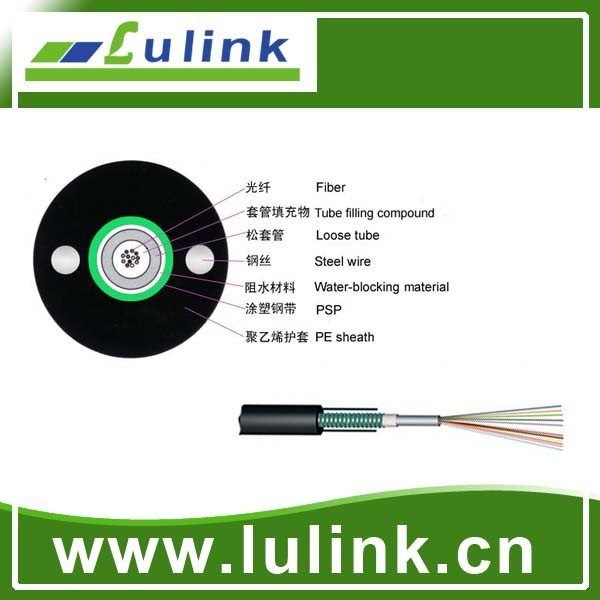 Outdoor Duct / Aerial 2 12 24 48 96 144 core Single mode /multimode GYTA OPTIC FIBER CABLE