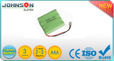 powerful 4.8v 600mah ni-mh aaa battery pack