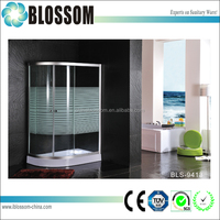 Aluminium frame sector glass parts for shower enclosure