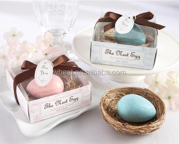 "Wedding ""The Nest Egg"" Scented Egg Soap in Nest"