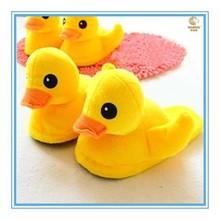 HOT sale cute and fashion new style duck animal winter plush slipper for children