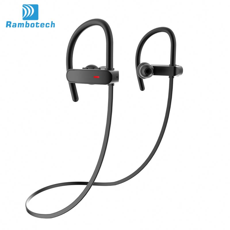 IPX7 waterproof wireless bt 4.1 head phone, Sports stereo bluetooth headsets with noise cancellation technology-RU10