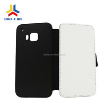 Newest DIY Sublimation leather flip phone case for HTC ONE M9