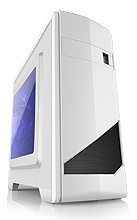 High Glossy White Micro ATX gaming computer case