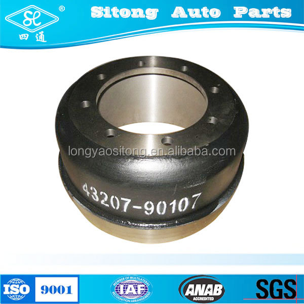 lorry auto parts rear truck Brake Drum for 43207-90107