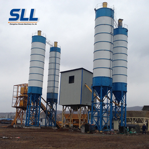 Factory direct offer 35m3/h concrete batching plant PLC control HZS 35 concrete mixing plant
