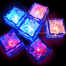 Hot sale crystal diamond shaped water entertaining bar furniture ice cube LED