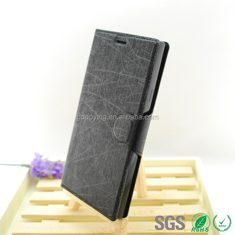 factory price TPU book stylish leather case for ZTE L2 cell phone accessory