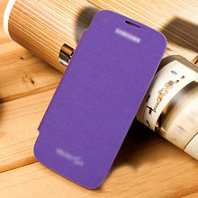 purple ultrathin flip leather case for samsung galaxy s4 original case cell phone cover