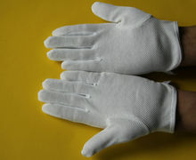 45g white cotton work gloves pvc dots