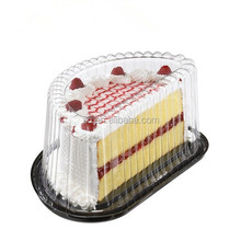 PET/PVC Black food grade ecofriendly blister cup cake tray /clamshell blister box with clear cover