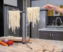 Foldable Pasta and Spaghetti Drying Rack Stand quick set-up compact for easy storage , detachable for easy cleaning;