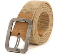 pin buckle military canvas belts with leather end