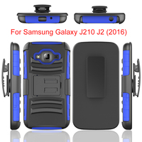 Heavy Duty Belt Clip Combo Holster Kickstand TPU PC Case For Samsung Galaxy J2(2016)