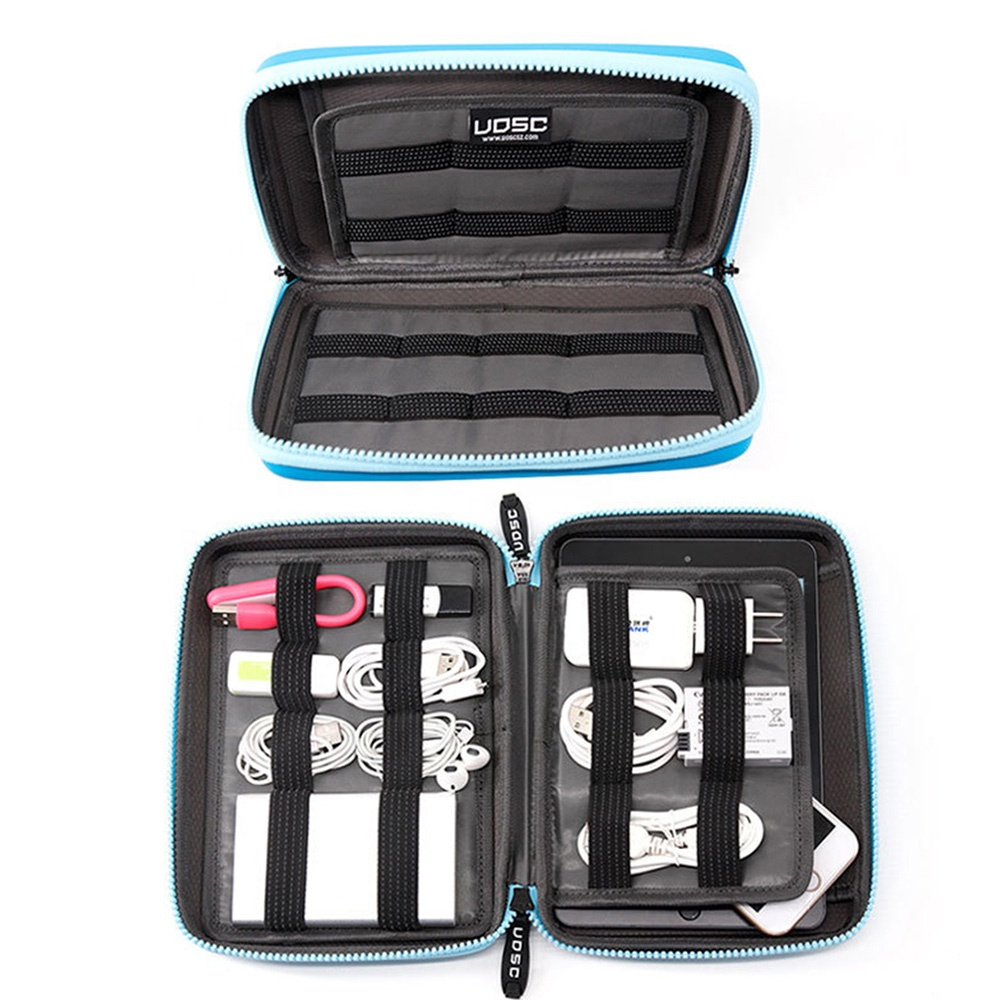 Waterproof <strong>travel</strong> carrying digital accessories storage bag EVA USB earphone Cable Storage Bag