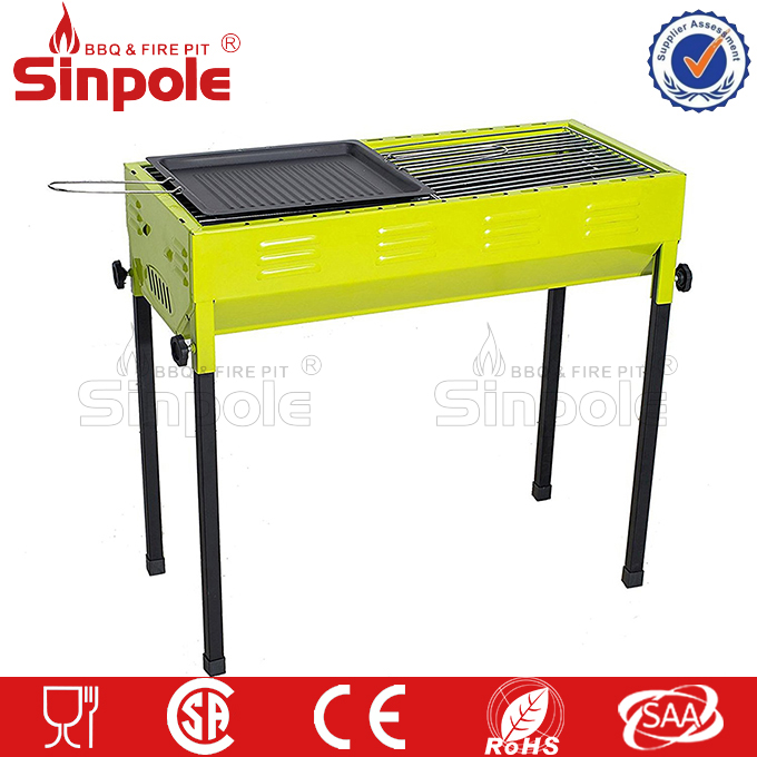 Charcoal barbecue grill wholesale, for picnic cast iron charcoal grill